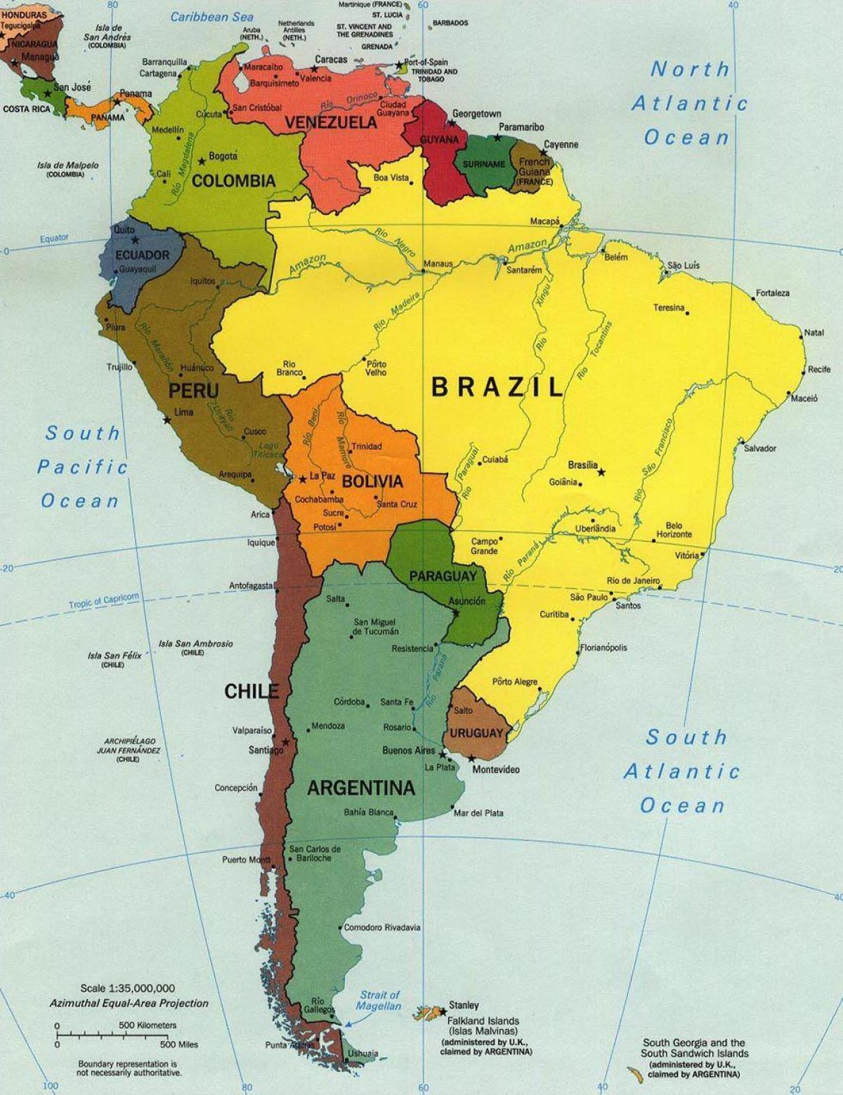 Kort Over Brasilien Bexdyie